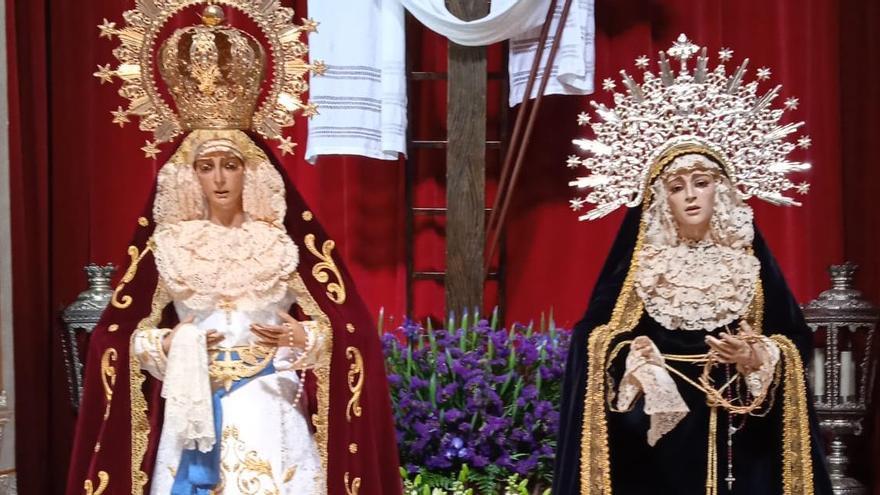 Oración conjunta de la cofradía del Ecce Homo el Martes Santo en Franciscanos