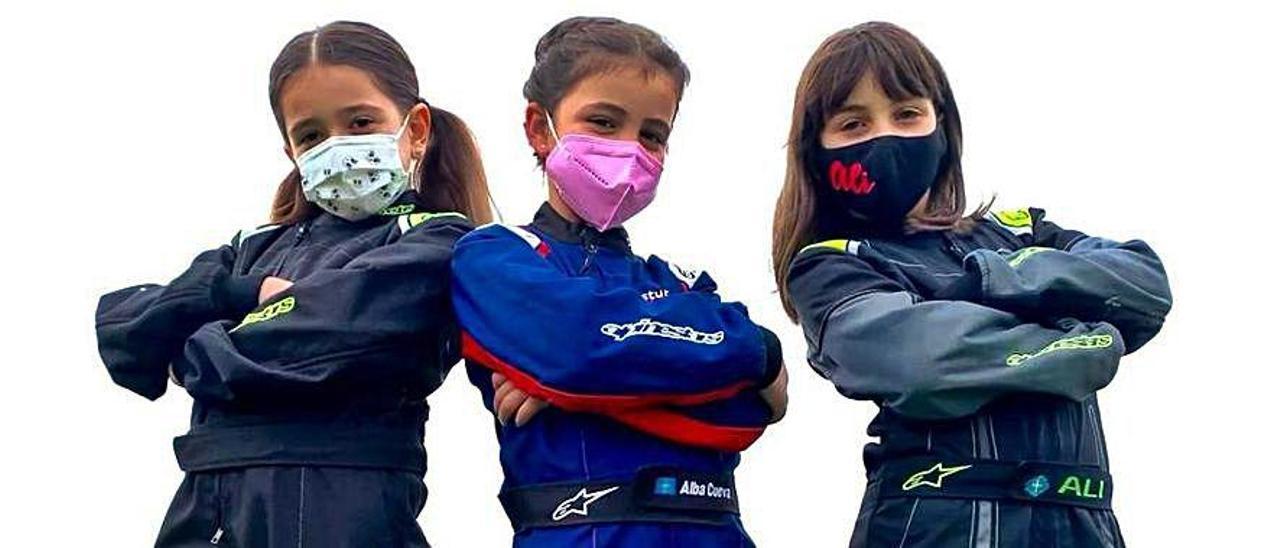 Daniela Martínez, Alba Cueva y Alicia Sánchez.