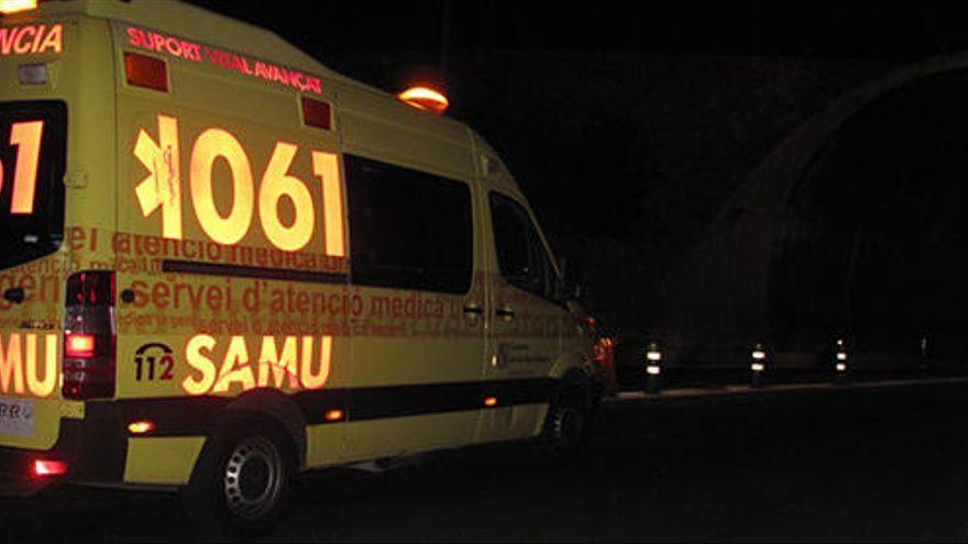 Un agente de la Policía Nacional sufre graves lesiones en un accidente de tráfico en Platja de Palma