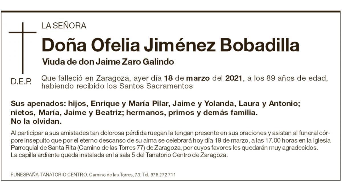 Ofelia Jiménez Bobadilla