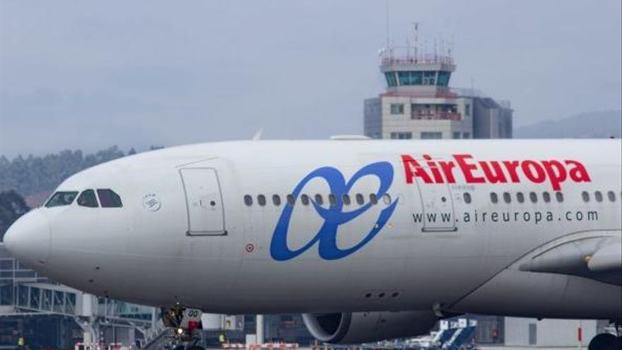 Air Europa acelera el embarque de pasajeros en sus vuelos entre Vigo y Madrid