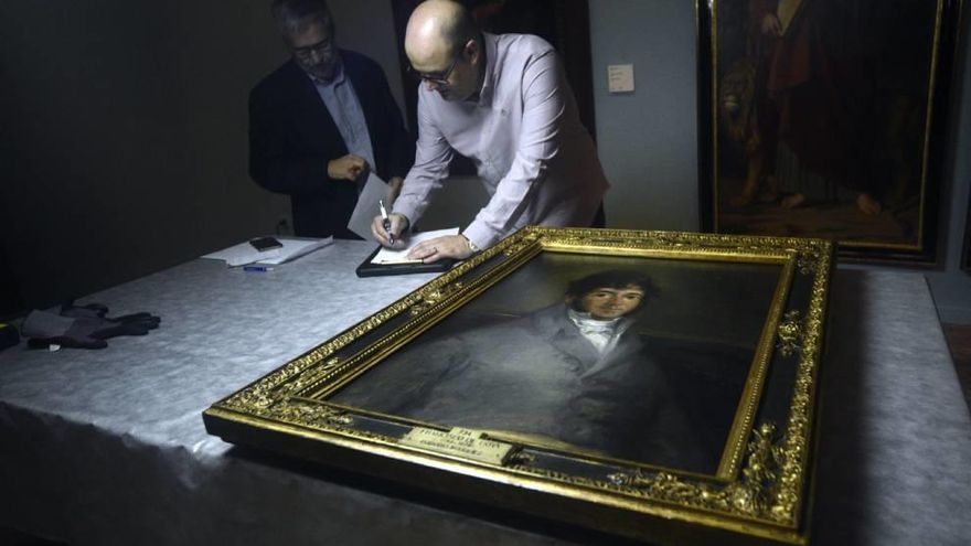 Un Goya cuelga ya en el Mubam