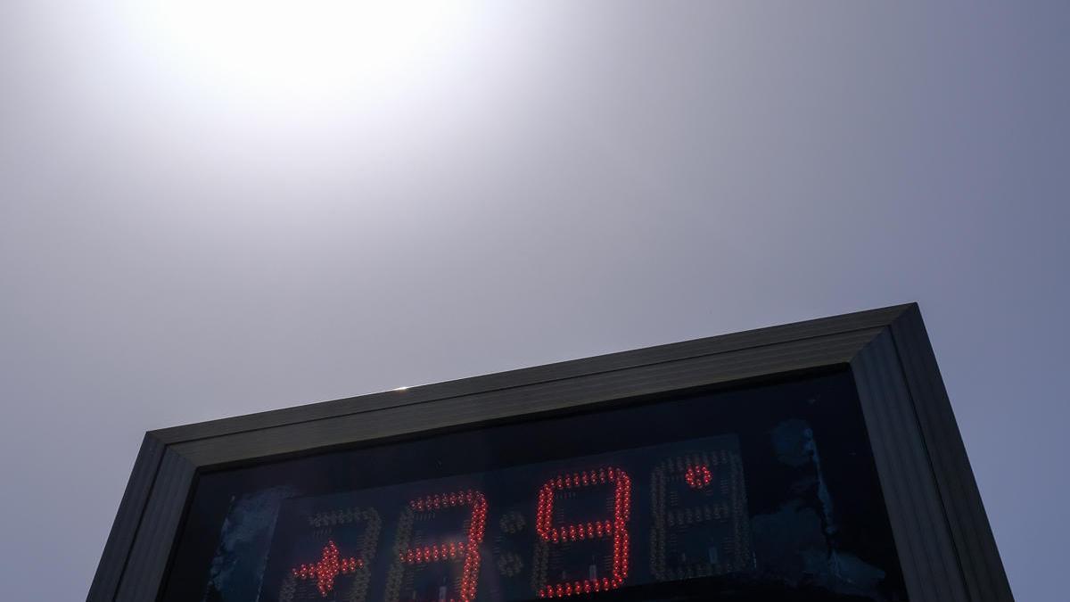 Un termómetro, en la capital malagueña
