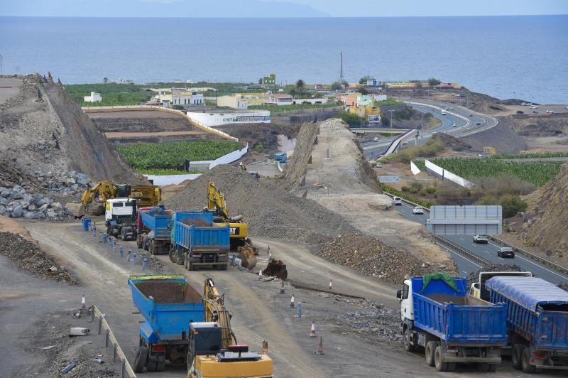 Panorámica de las obras de la circunvalación en el enlace con la autovía del norte