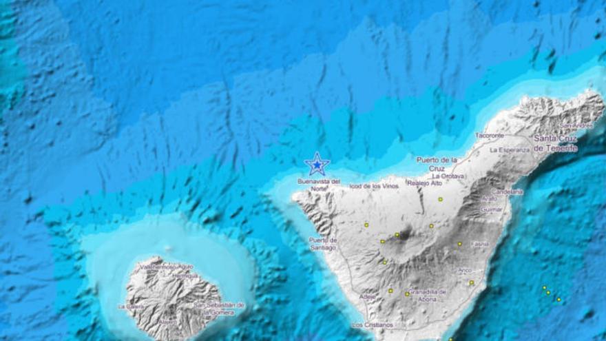Tenerife registra un terremoto de 4,1 sentido por la población