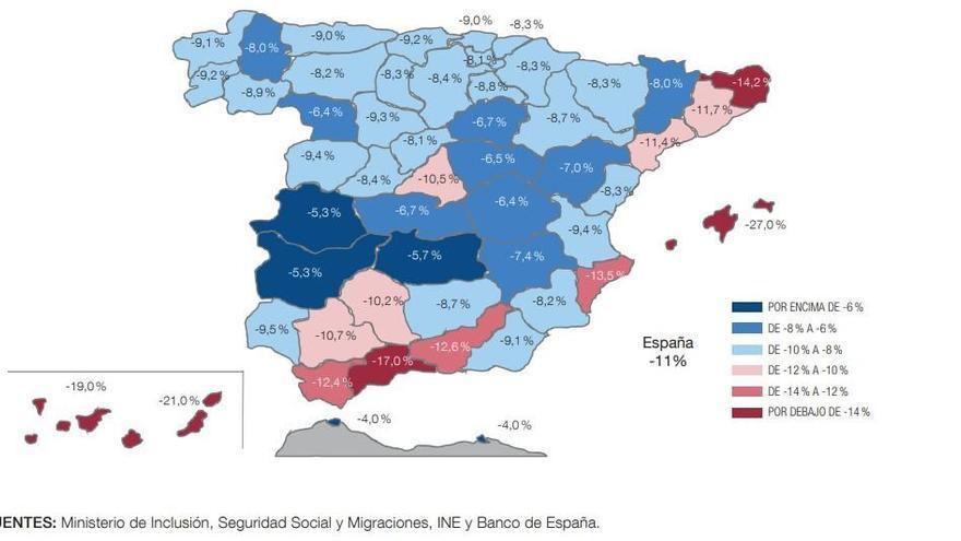 Wirtschaft auf Mallorca und den Nachbarinseln schrumpft um 27 Prozent