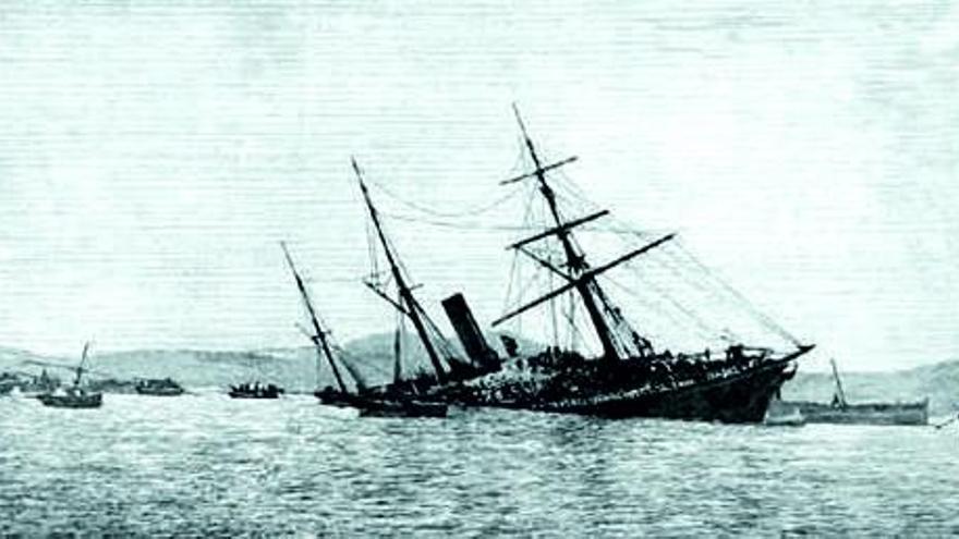 Grandes naufraxios na costa de Cangas (II)