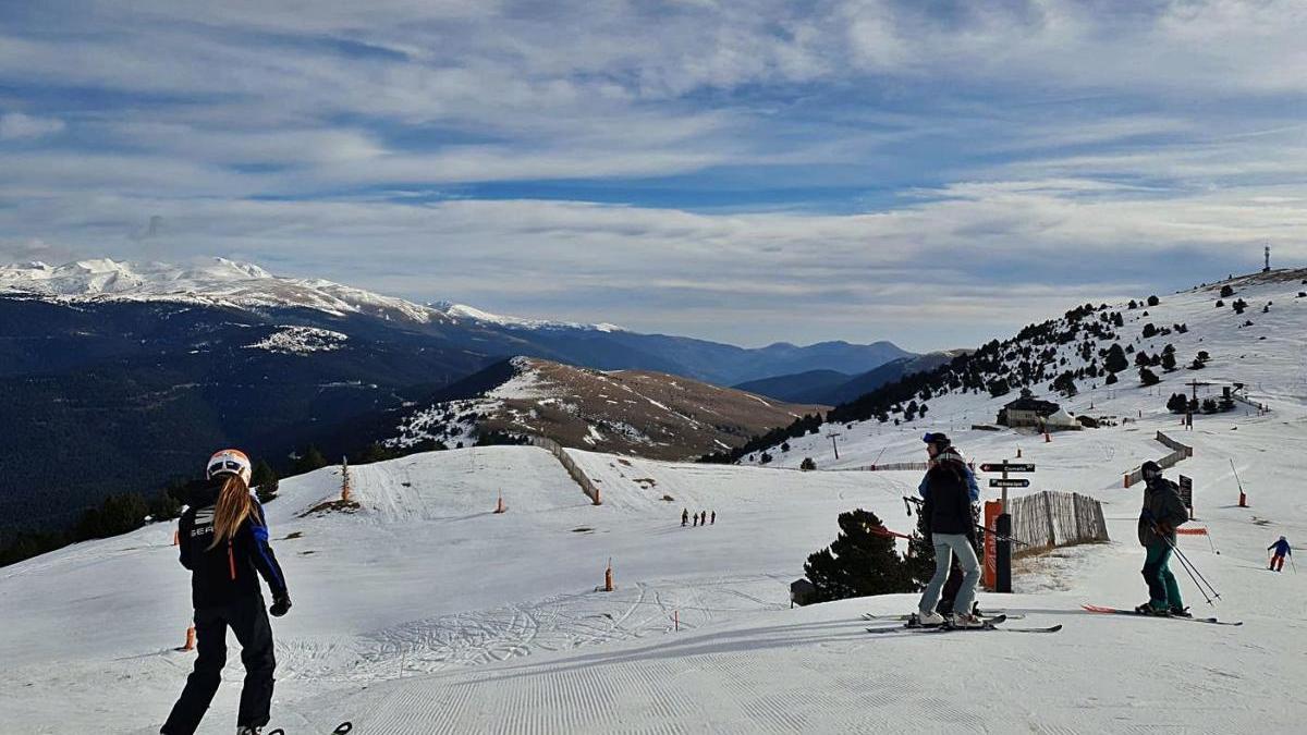 Les pistes de la Molina el cap de setmana passat, en els primers dies d'obertura