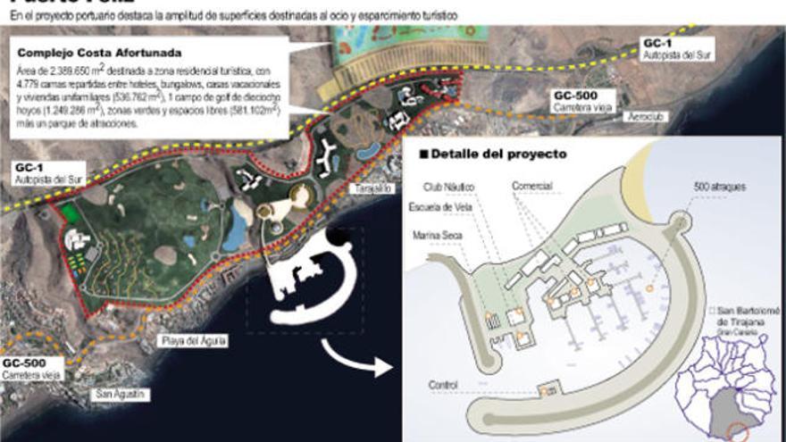 Un puerto deportivo de 70 millones de Satocan completa el plan de Tarajalillo