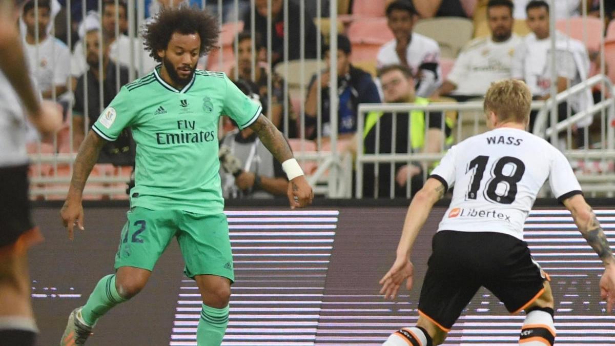 Marcelo en un partido frente al Valencia