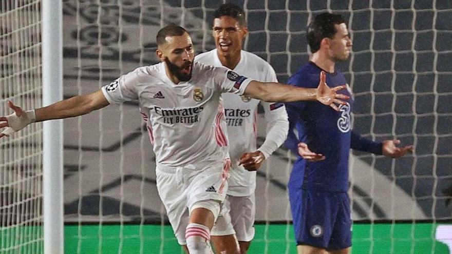 Benzema manté viu el Madrid davant el Chelsea