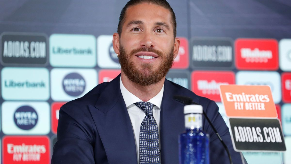 Sergio Ramos durant la roda de premsa