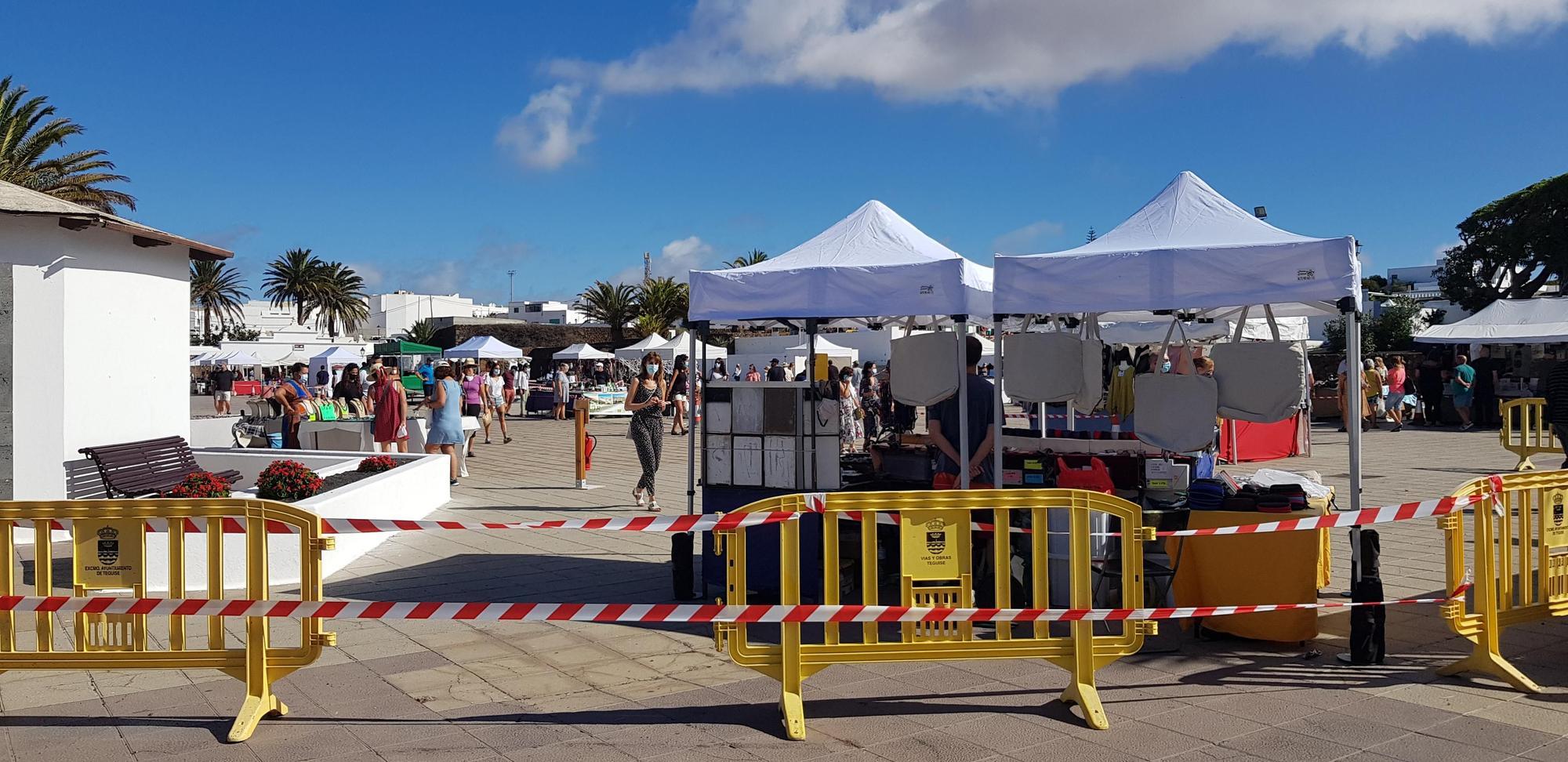 El Mercadillo de Teguise reabre en la Plaza de La Mareta