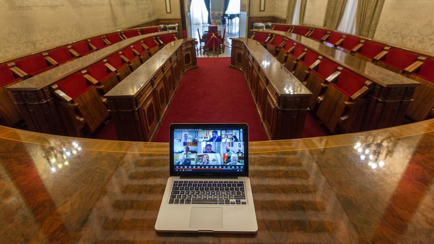 El pleno del Ayuntamiento de Alicante, de nuevo telemático