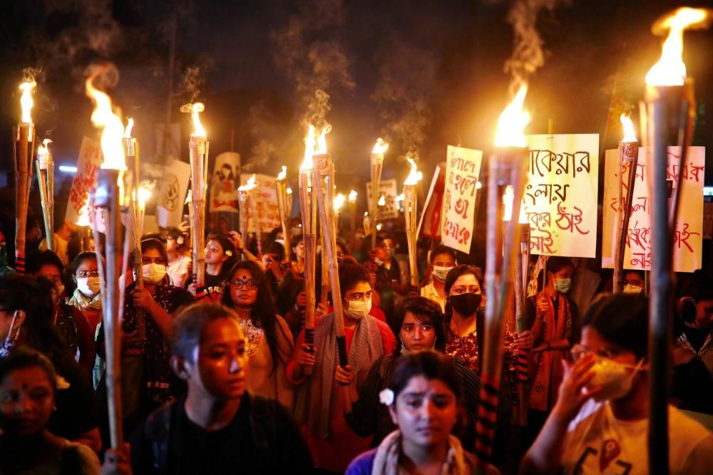 HEALTH-CORONAVIRUS/BANGLADESH-PROTEST
