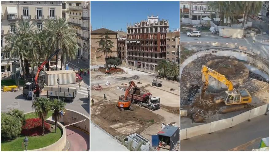 La espectacular transformación de la Plaza de la Reina en solo dos minutos