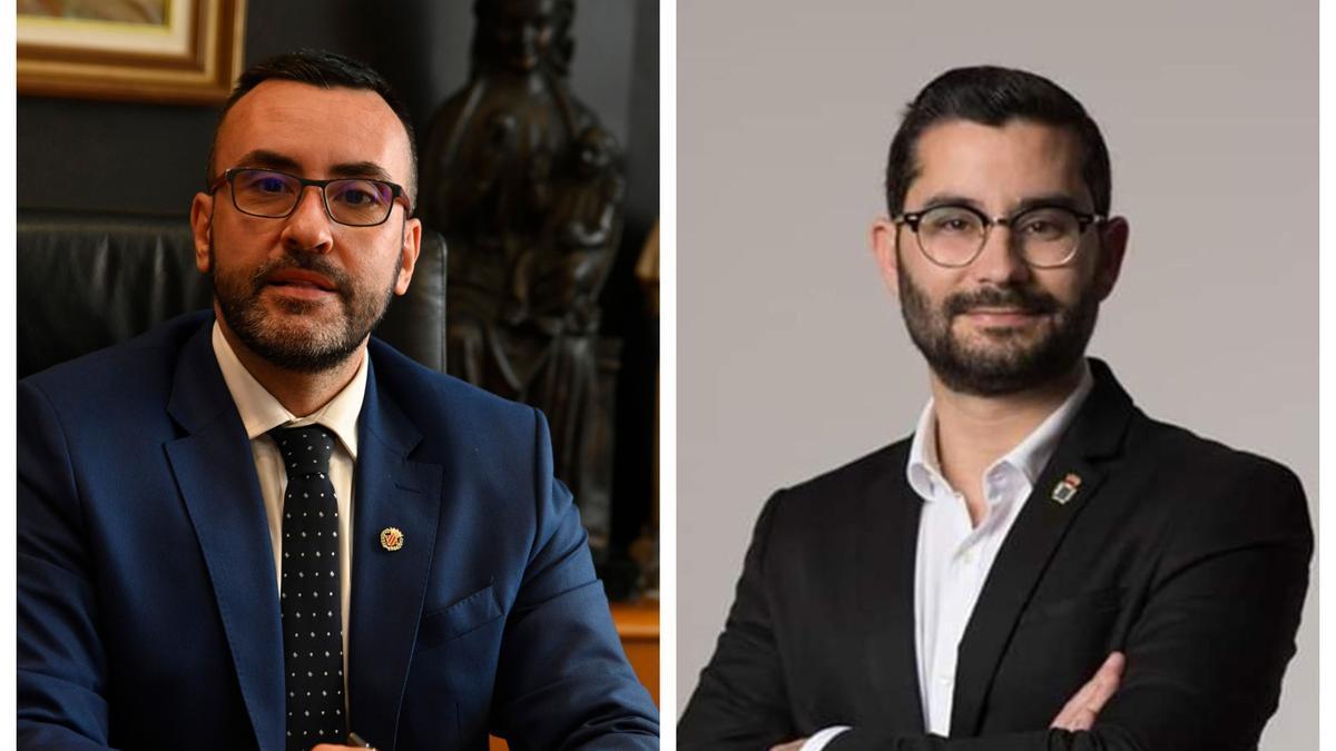 El alcalde de Vila-real, José Benlloch, y el de l'Alcora, Samuel Falomir, ambos del PSPV.