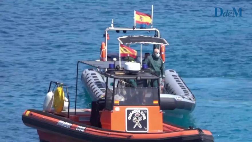 Intensive Suche nach einem Schnorchler in Cala Figuera