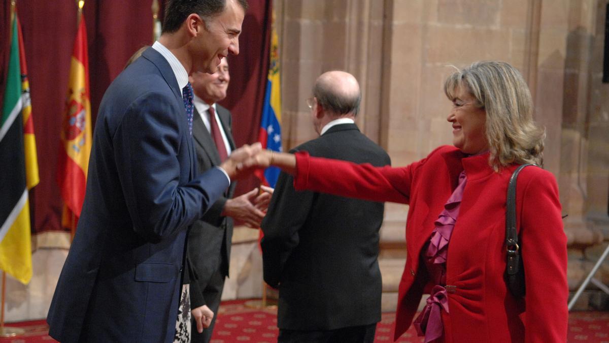 María José Cervero, junto al Rey