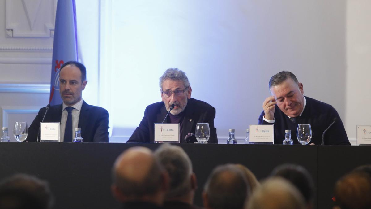 Carlos Mouriño, durante la última junta general de accionistas.