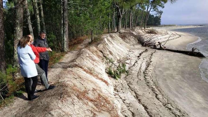 Un dique de 70 metros de largo evitará que desaparezca la playa de A Lamiña