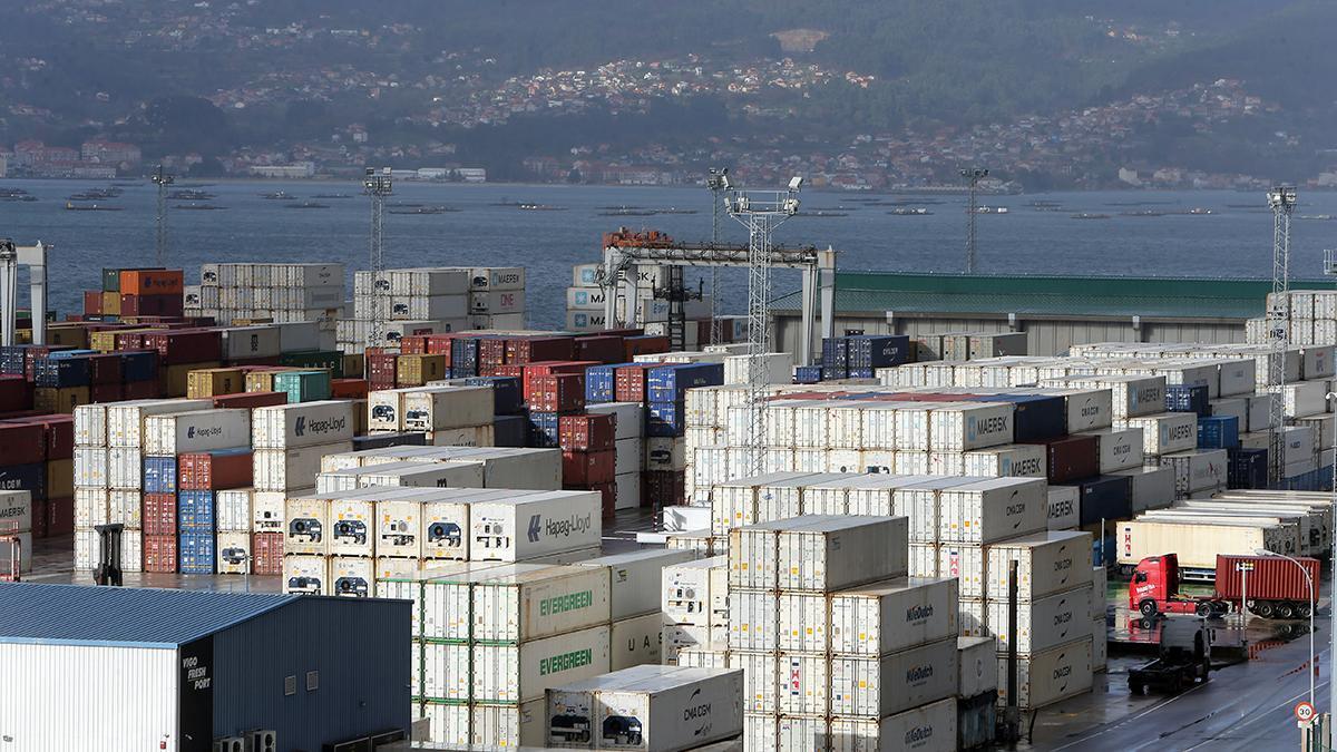 Contenedores en el Puerto de Vigo, en una imagen de archivo