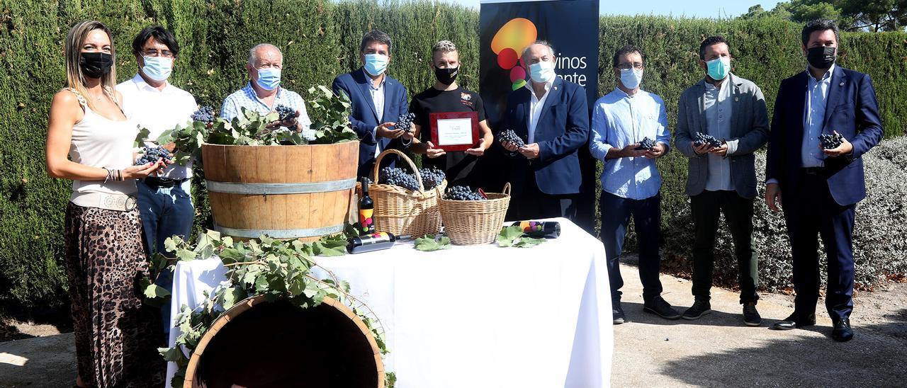 El acto simbólico del comienzo de la campaña de la uva de vino en Villena.