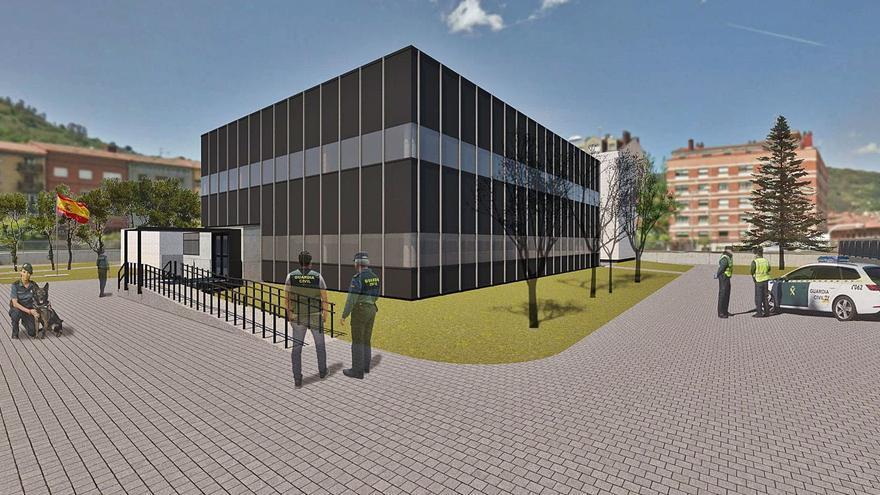 El nuevo cuartel de Mieres tendrá dos edificios y estará acabado en año y medio
