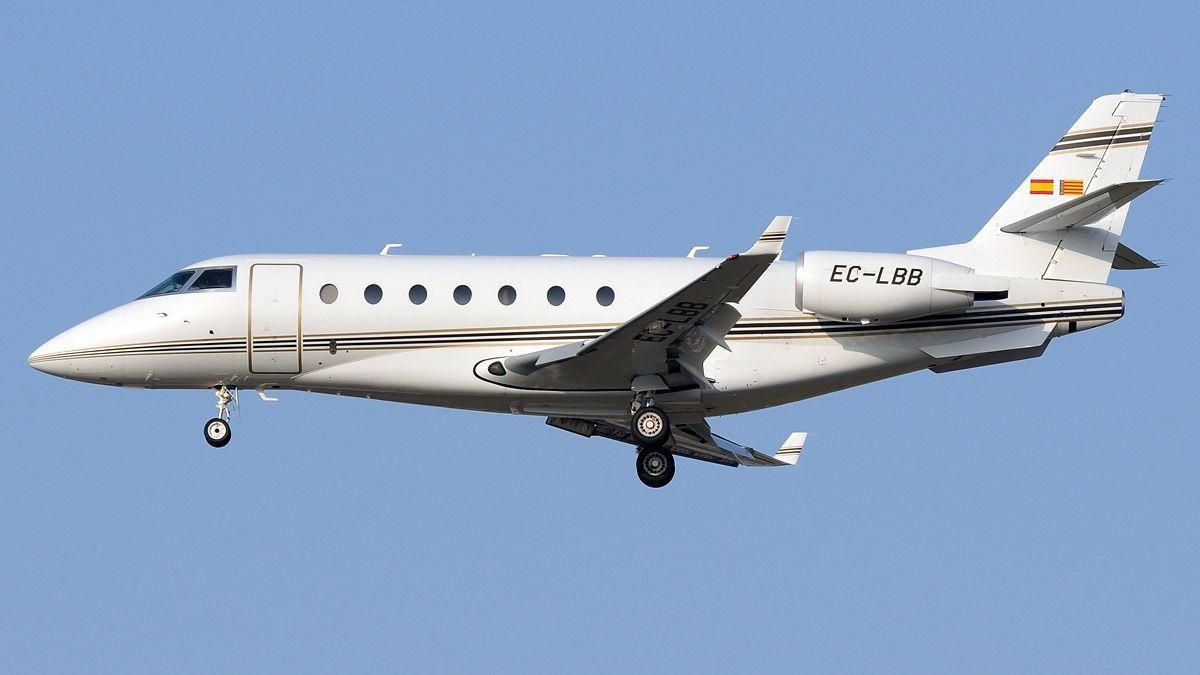 Un avión Gulfstream 2000, similar al que habría sobrevolado Ibiza