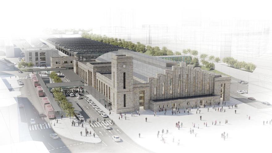 Así será la estación de tren de A Coruña tras la reforma