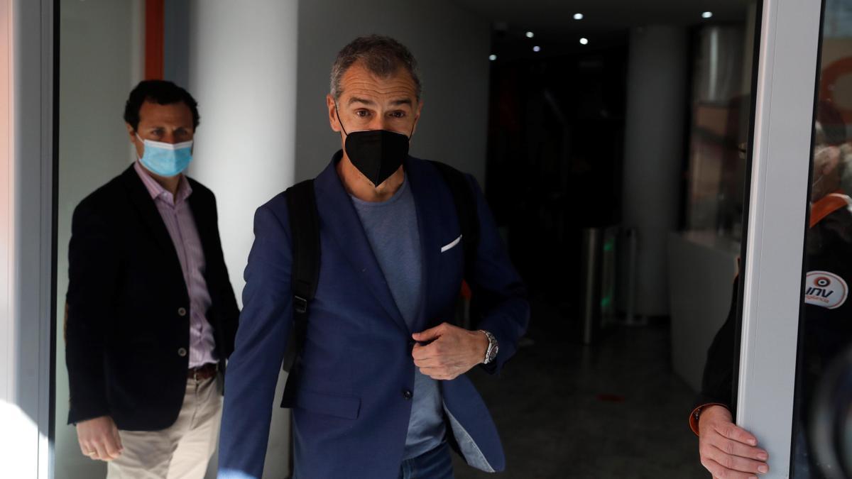 Toni Cantó, el día que anunció su abandono de Cs, en la sede en Madrid.