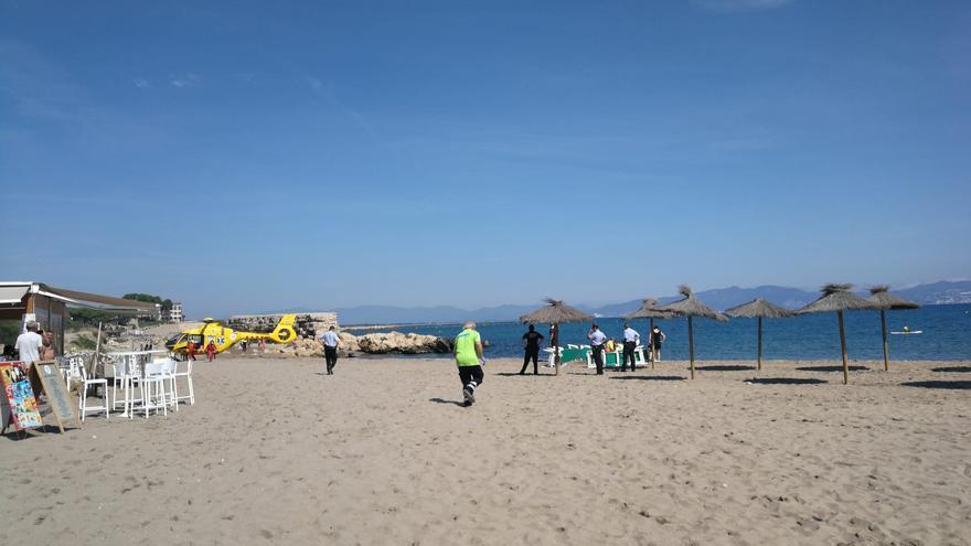 Aturada cardiorespiratòria a la platja del Moll Grec d'Empúries