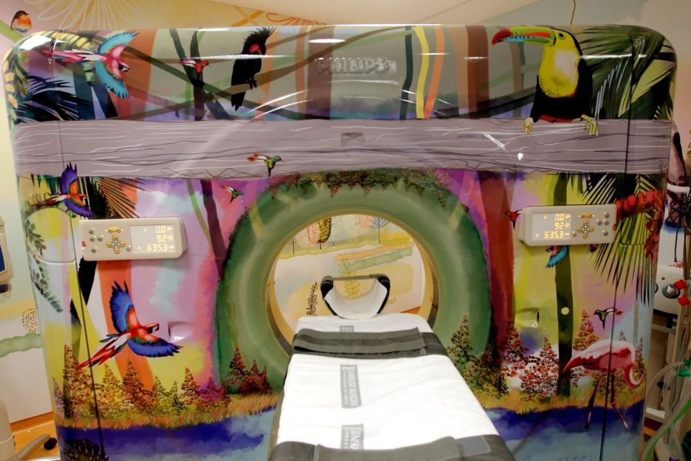 El nuevo decorado de las instalaciones de Pediatría de La Fe.