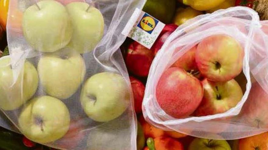 Lidl führt Mehrwegbeutel für Obst und Gemüse ein