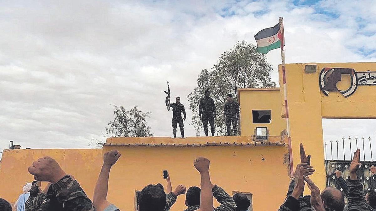 Imagen de archivo de simpatizantes del Frente Polisario.