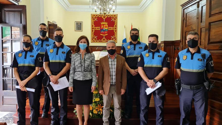 La Policía Local de Teror incorpora a su plantilla cinco nuevos agentes