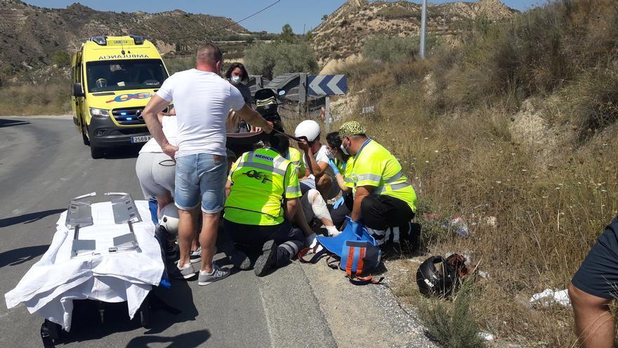 Herido un motorista en un accidente de tráfico con un camión en Los Garres