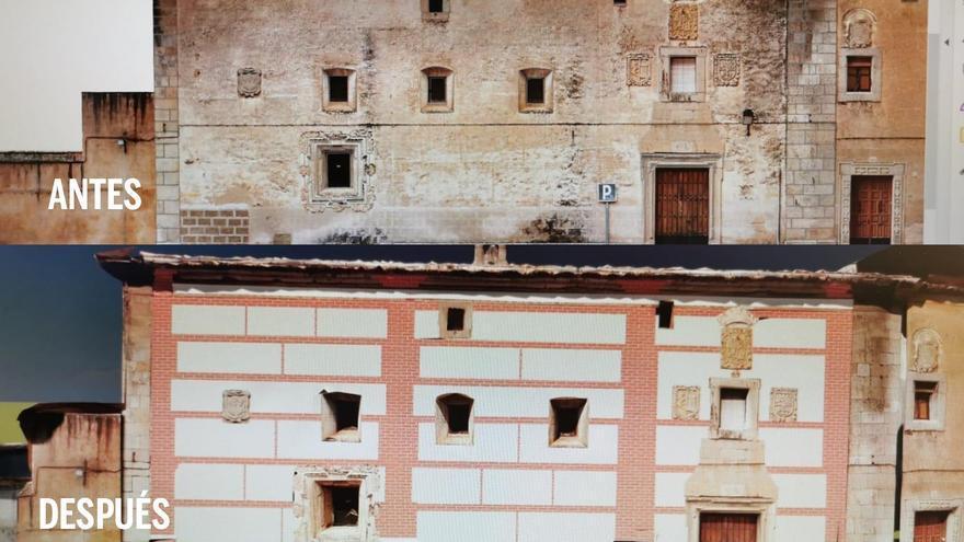 Las Jerónimas recuperará las pinturas de su fachada principal