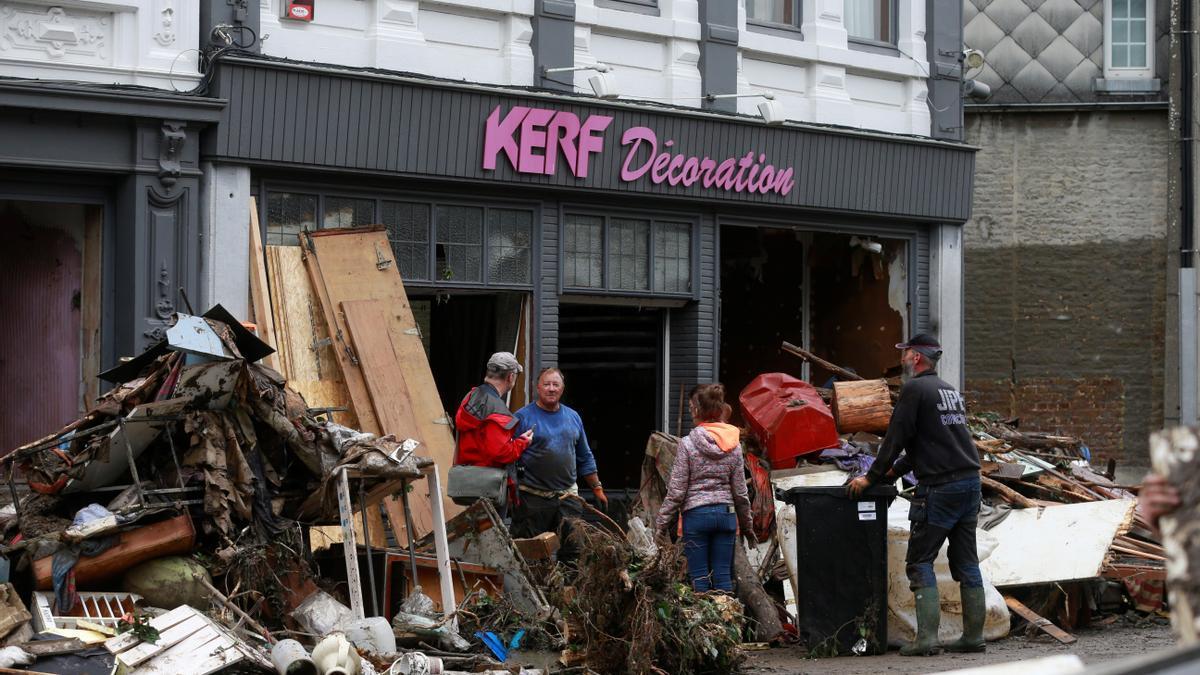 Inundaciones en Bélgica.