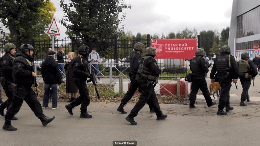 Almenys vuit morts en un tiroteig en una universitat a Rússia