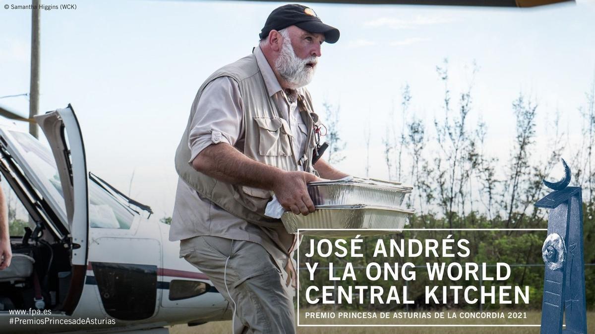 """El cocinero José Andrés, premio """"Princesa de Asturias"""" de la Concordia 2021"""