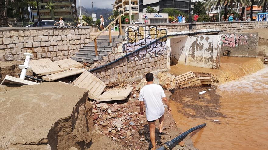 Registro histórico de precipitaciones en 24 horas un mes de agosto, hoy en Benicàssim