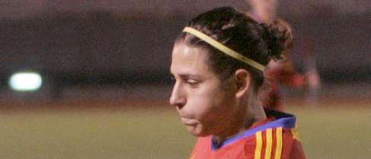 Vero Boquete, con la selección española. // FDV
