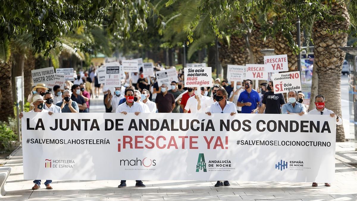 Manifestación de Mahos en septiembre de 2020.