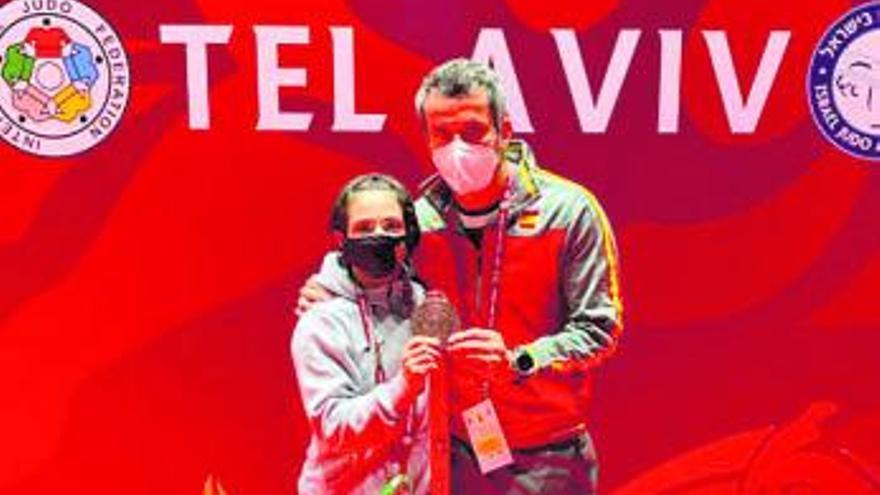 La yudoka Julia Figueroa vuelve al podio un año después