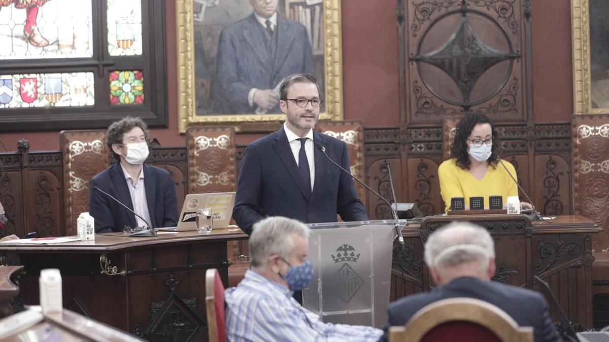 José Hila en el debate del estado de la ciudad