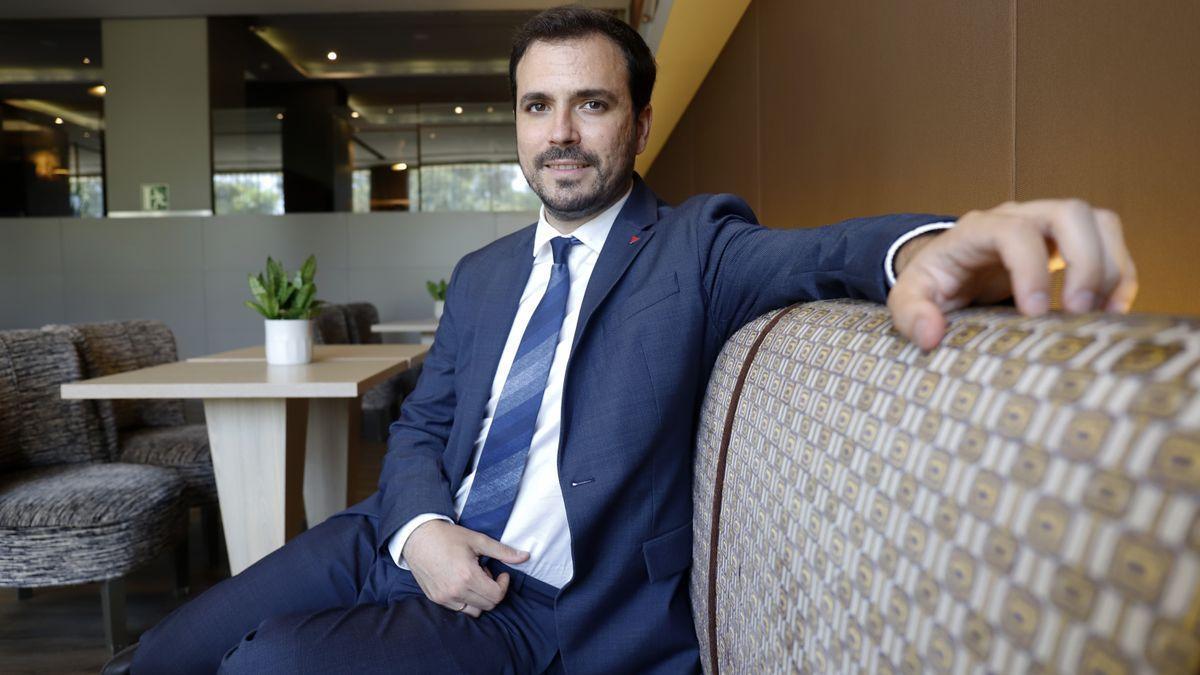 El ministro de Consumo, Alberto Garzón, en el Hotel Málaga Palacio