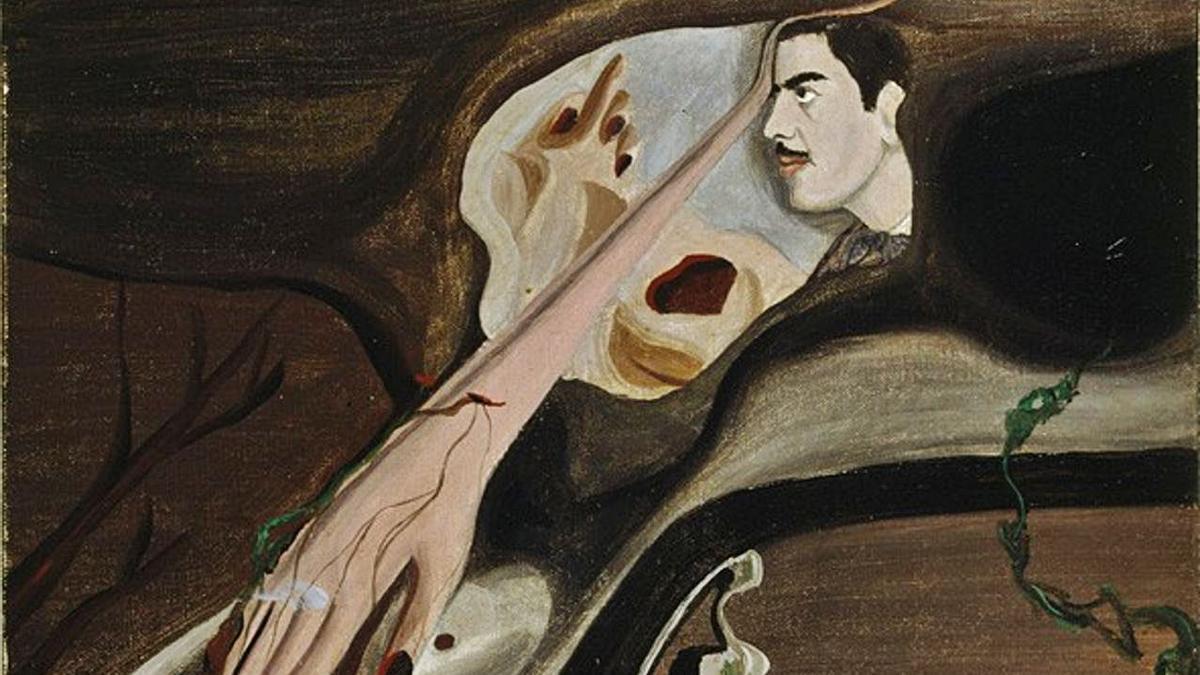 La bola roja (1933) y Autorretrato (1933), abajo, dos de las obras de la colección de TEA. | | E.D.