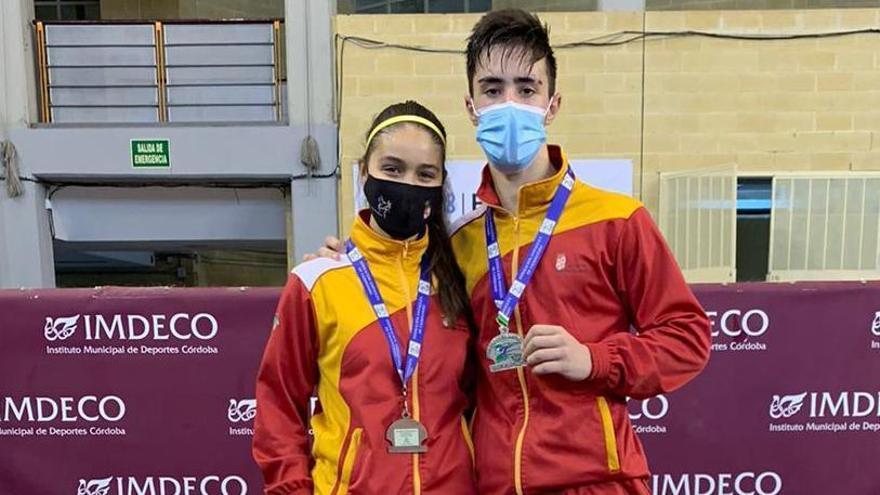 Dos medallas para el Ternera de Aliste de Taekwondo en el Internacional de Andalucía