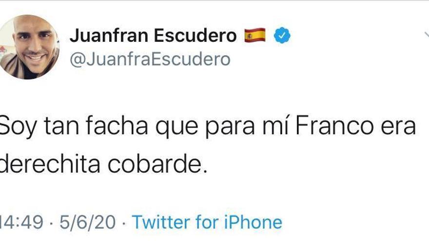El exconcejal de Cs Juan Francisco Escudero se autodeclara fascista
